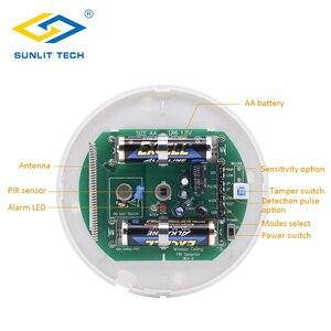 Image 5 - 1/2/3/4 stks Draadloze Plafond pir sensor 360 Graden Detectie Plafond Montage 433 MHz Indoor WIFI Motion Detector Voor Alarmsysteem