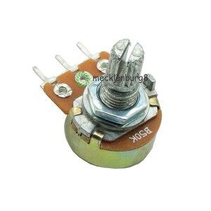 5 шт. 50K Ом 3-контактный 3-контактный 3-контактный Линейный Конус вращающийся потенциометр 50KB B50K горшок