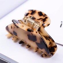 6.5cm Long Acetate  Luxury Hair Accessories Fancyin Leopard Claws for Girls High quality Headwear