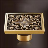 brand new high quality brass antique floor drain, bathroom drain