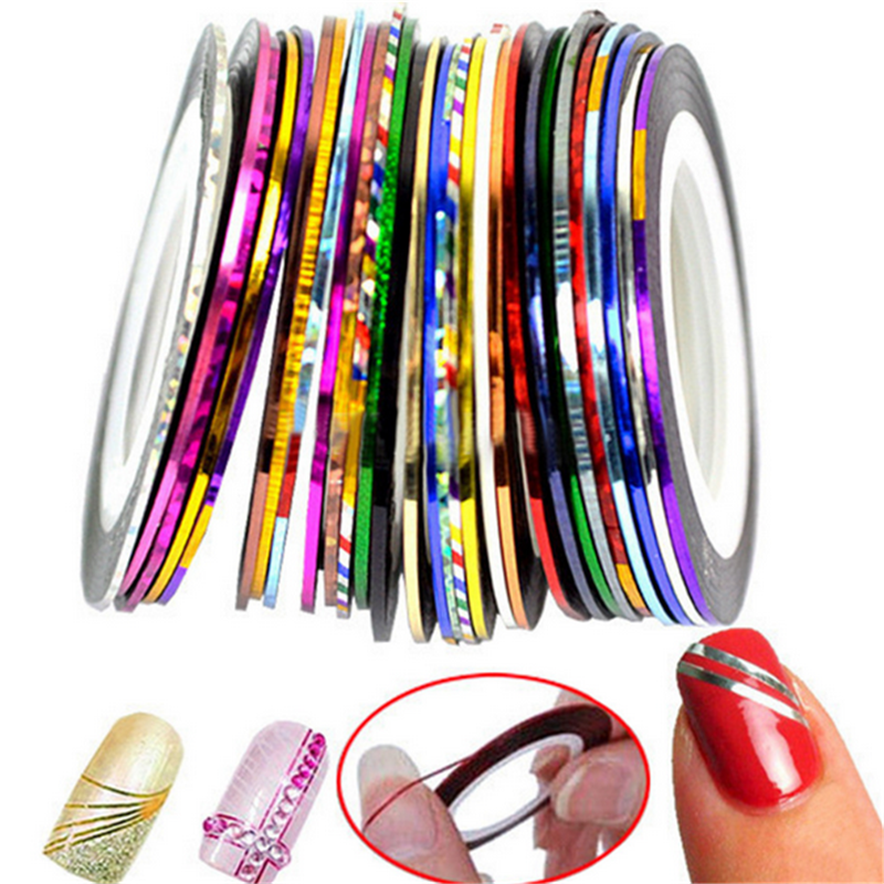 Women Nail Art Sticker Tools Rolls Striping Tape Line 10 18 30 ...