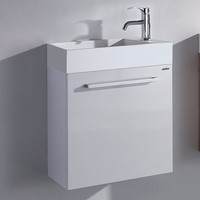 500mm X 300mmX510mm Bathroom Blum Hings furniture Top Solid Surface Vanity Storage Cloakroom Wall Hung Cabinet 2073