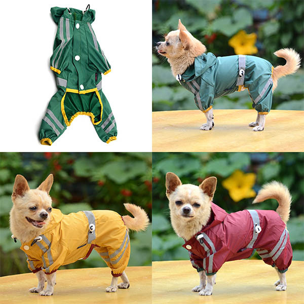 Ventas calientes Cozy Pet Dog Cool Chubasquero Glisten Bar Hoodie - Productos animales - foto 6