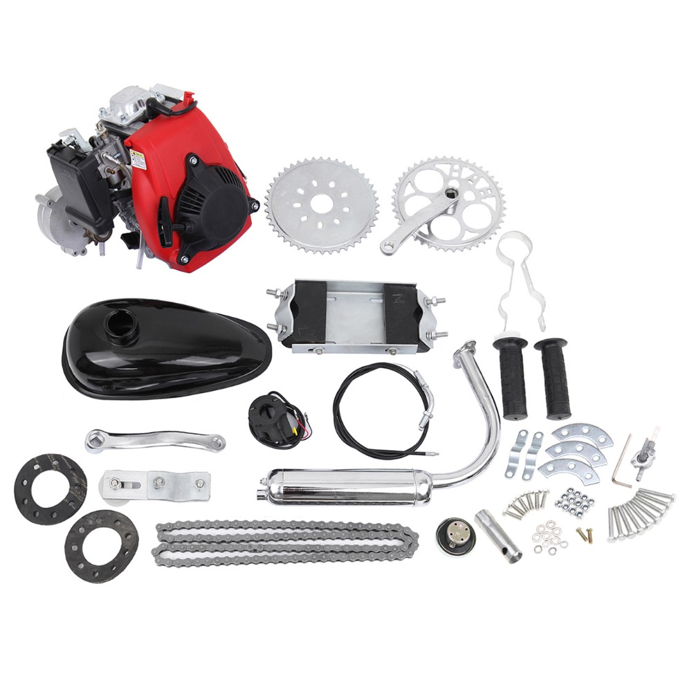(Shipping From EU) 49cc 4 Stroke Bicycle Engine Cycle Motor Kit Motorized Bike Petrol Gas Scooter Engine kit 2018 rushed 80cc 2 stroke motorized bicycle cycle petrol gas engine motor kit motorized new
