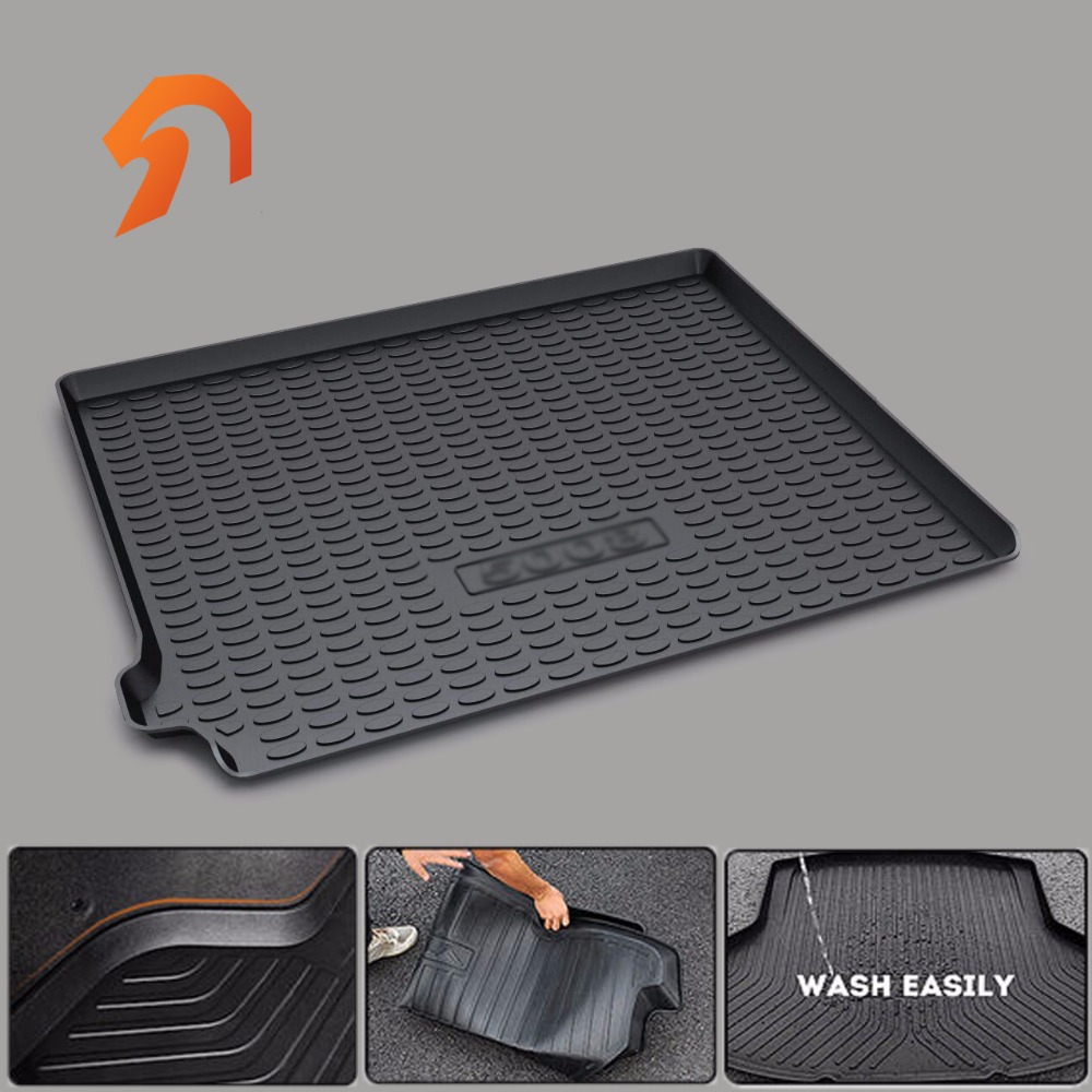 FIT FOR Peugeot 5008 2017  BOOT LINER REAR TRUNK CARGO MAT FLOOR TRAY CARPET MUD COVER PROTECTOR 3D car-styling 3d car styling custom fit car trunk mat all weather tray carpet cargo liner for honda odyssey 2015 2016 rear area waterproof