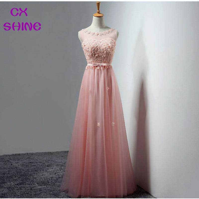 CX SHINE Piros, szürke, rózsaszín, kék, csipke, virág, hosszú, - Különleges alkalmi ruhák