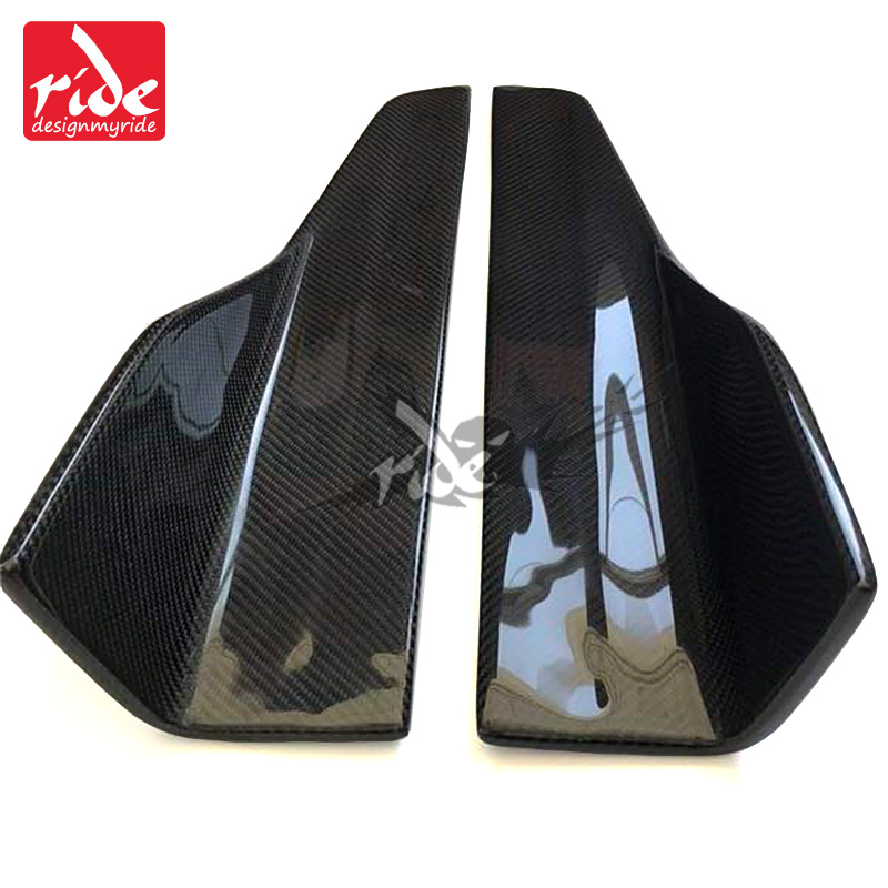 Fits For Lamborghini HURACAN Carbon Fiber Side Skirts Body Kits 2Pcs Pair 2 Door Coupe Black Side Skirts Splitters Flaps E Style in Bumpers from Automobiles Motorcycles