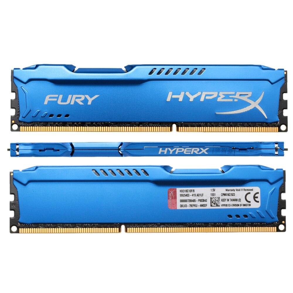 Kingston HyperX DDR3 4GB FURY Memory 4gb ddr3 ram 1866 mhz CL10 DDR3 Memoria For Desktop PC Playerunknowns battlegrounds Gaming