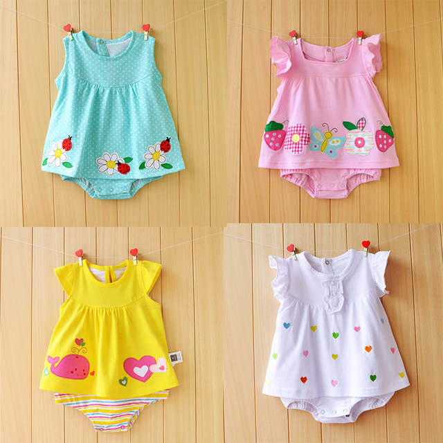a1e5659d6 Online Shop Newborn Baby Girl Dresses Cotton Baby Girls Clothing ...