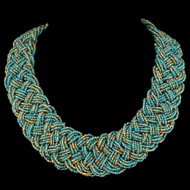 Ethnic Handmade Chunky Chain Bib Choker Collar Statement Necklace
