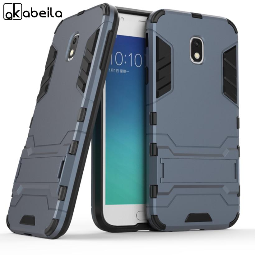 Galleria fotografica AKABEILA Kickstand Phone Cases For Samsung Galaxy J3 2017 J330 J330F J330G/DS EU Eurasian Version Case PC+TPU Hybrid Armor Cover