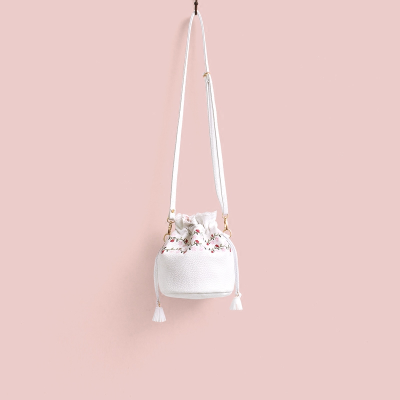 2017 Brand Designer Ladies Shoulder Bag Fashion Party Floral Handbags Top Quality Female Straw Handbag Girl Mini Bucket For Gift