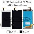 100% testado preto/branco 4.5 polegada para huawei ascend p7 mini display lcd + touch screen digitador assembléia frete grátis