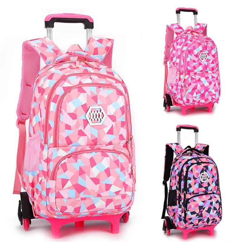 เด็กกระเป๋าเดินทางกลิ้งกระเป๋าโรงเรียนกระเป๋ารถเข็นกระเป๋าเป้สะพายหลังล้อหญิงรถเข็นกระเป๋าเป้สะพายหลังล้อกระเป๋าสำหรับหญิง sac-ใน กระเป๋านักเรียน จาก สัมภาระและกระเป๋า บน AliExpress - 11.11_สิบเอ็ด สิบเอ็ดวันคนโสด 1