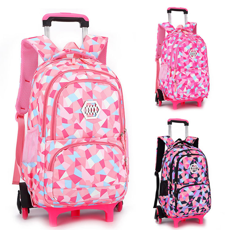 Enfants Voyage bagages sur Roulettes Sacs D'école Chariot sac À Dos Sur roues Filles Chariot École sacs à dos sacs à roulettes pour les filles sac
