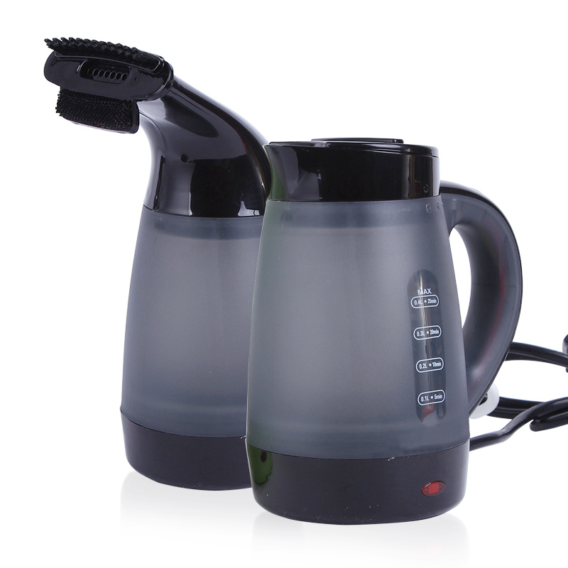 2in1 Electric Kettle Garment Vertical Steamers Iron 600W Portable Travel Camping Water Boiler For Home Boil Kettle European Plug 700w portable food grade plasctic electric kettle thermal insulation teapot 0 5l home travel water boiler seperated underpan