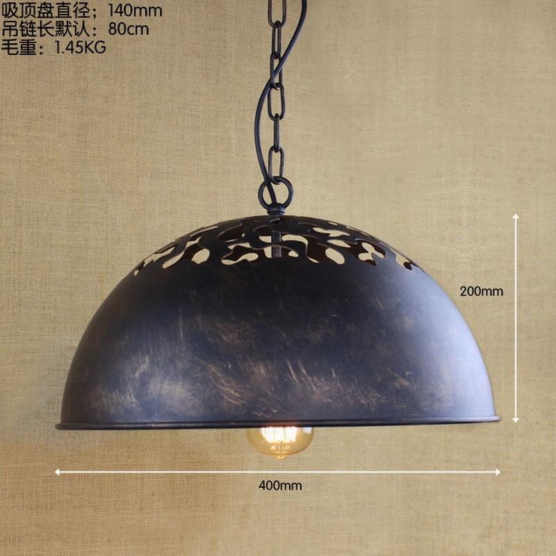 Reto vintage Industriële Tijdperk Taak Grote hanglamp verlichting ...