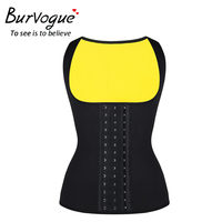 Burvogue Body Shaper Hot Shapers For Weight Loss Girdle Neoprene Slimming Belt Waist Trainer Corset Modeling