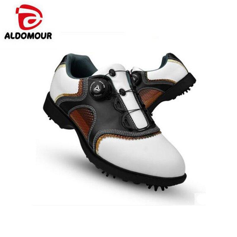 Men's golf shoes Leather for Men slip resistant sports shoes Revolving shoe lace movable nail shoes adidas men s adizero one golf shoe