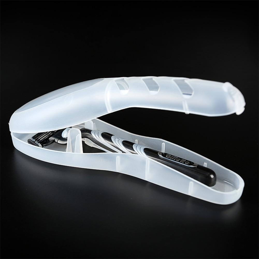 Portable Men's Razor Box Razor Blades Holder Hair Removal Storage Box Shaver Box For Gillette Razor (not Include Shaver)