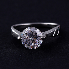 2016 Classic Romantic Diamond Ring Imitation sterling-silver-jewelry Ring crystal fine jewelry R928 black friday