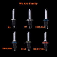 H1 H7 H11 9005 (HB) 9006 (HB4) 9012 (HIR2) D2H 5500 K 6500 K HID XENON 55 Вт светодиодные фары HID лампы Высокий свет очень яркий