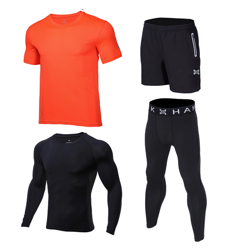 4pcs Kids Compression Running Sets Sports Suit Shirts Shorts Pants Footbal Basketball Soccer GYM Fitness T-shirt Tights Leggings 2016 boys running pants soccer trainning basketball sports fitness kids thermal bodybuilding gym compression tights shirt suits page 2