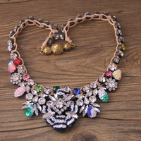 2018 Baroque necklace new arrival fashion shourouk high quality women collar choker necklace jewelry 795