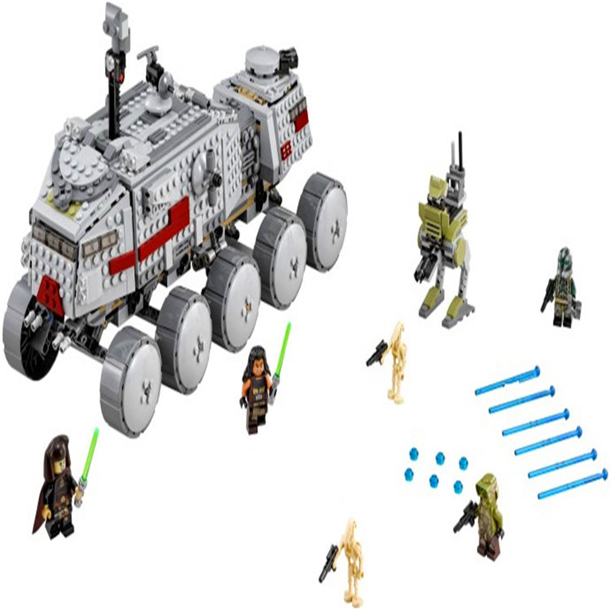 933Pcs Star Wars Clone Turbo Tank Model Building Block Toys LEPIN 05031 Educational Gift For Children Compatible Legoe 75151 decool 7108 batman chariot superheroes bat tank building block 506pcs diy educational toys for children compatible legoe