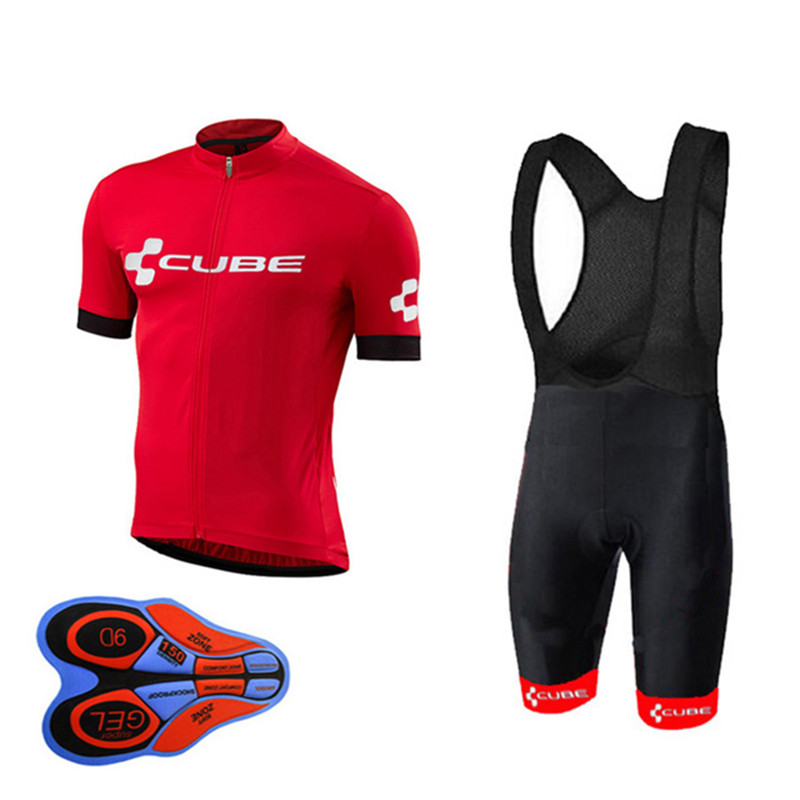 2018 New CUBE Team Short sleeve Cycling Jersey Sets Outdoor MTB Bike Quick dry Clothing Ropa Ciclismo Bicicleta Maillot Suit C1 ckahsbi 2017 new long sleeve cycling sets suit male autumn winter jersey outdoor bike coat quick dry mtb riding pants mountain