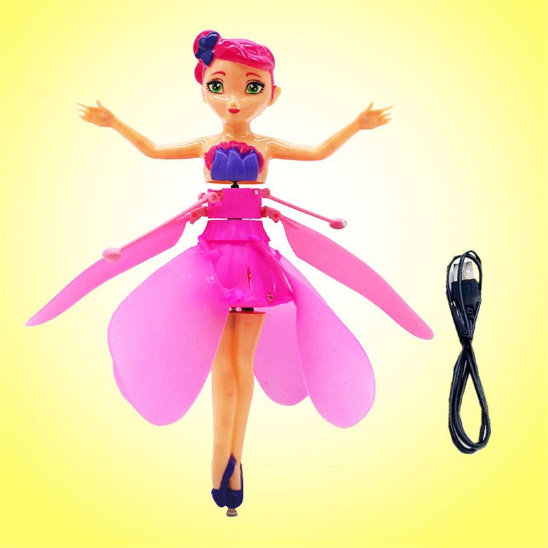 купить New Wireless Flying Fairy Magical Princess Cute Dolls Toy Infrared Induction Control Flying Dolls Toys For Children Flying Ball по цене 919.69 рублей