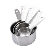 5 шт., прочные мерные ложки из нержавеющей стали, Набор чашек для кухни, для выпечки сахара, кофе, измерительные инструменты, наборы