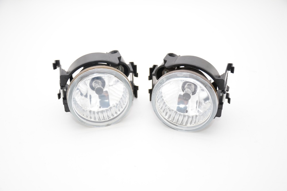 1Pair Clear Lens Front Driving Fog Light Lamps With Bulb Car-styling for Subaru legacy 2010-2012 pair new high quality front fog lamp lights driving lamps clear lens car styling for bmw e39 5 series 2001 2003
