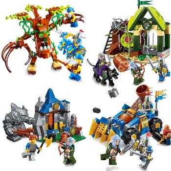 Castillo Caballero Niños Iluminar Grifo Legoings Bloques Gloria Elfo Educativos De La Heros Guerra Arma Juguetes Regalos Construcción bfyv6gIY7