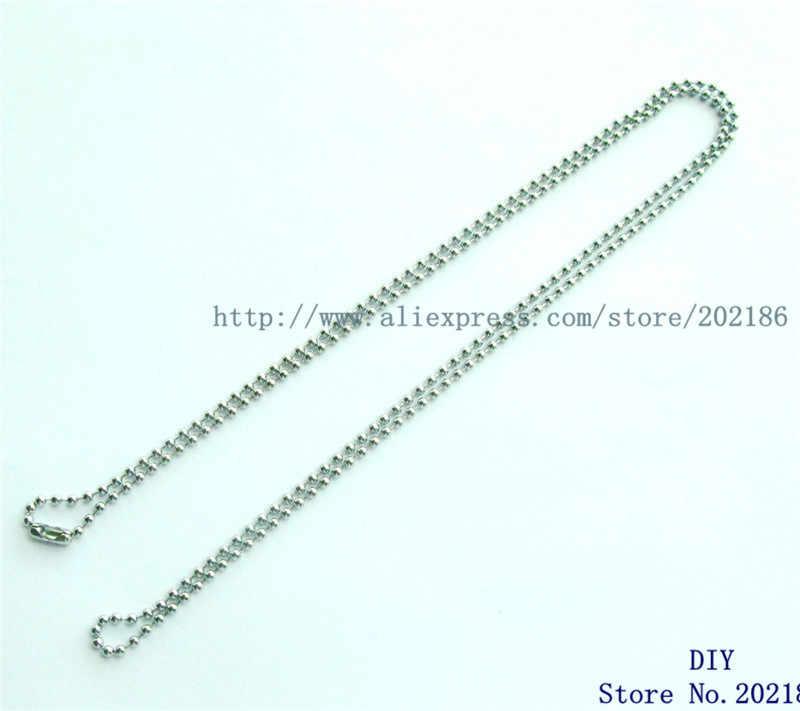 Moda 80cm boncuk zincir gül altın siyah gümüş renk kolye zinciri fit DIY yüzen madalyon kolye difüzör kolye kadın