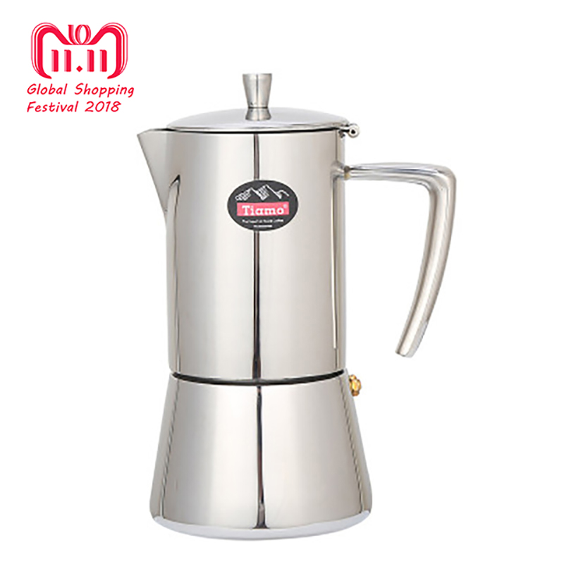 4cup/6cup Coffee Maker Stainless Steel Coffee Pot 304 Moka Pot Household Hand Punch Pot Filter Cup Coffee Set Filter Pot stainless steel vacuum coffee insulation pot