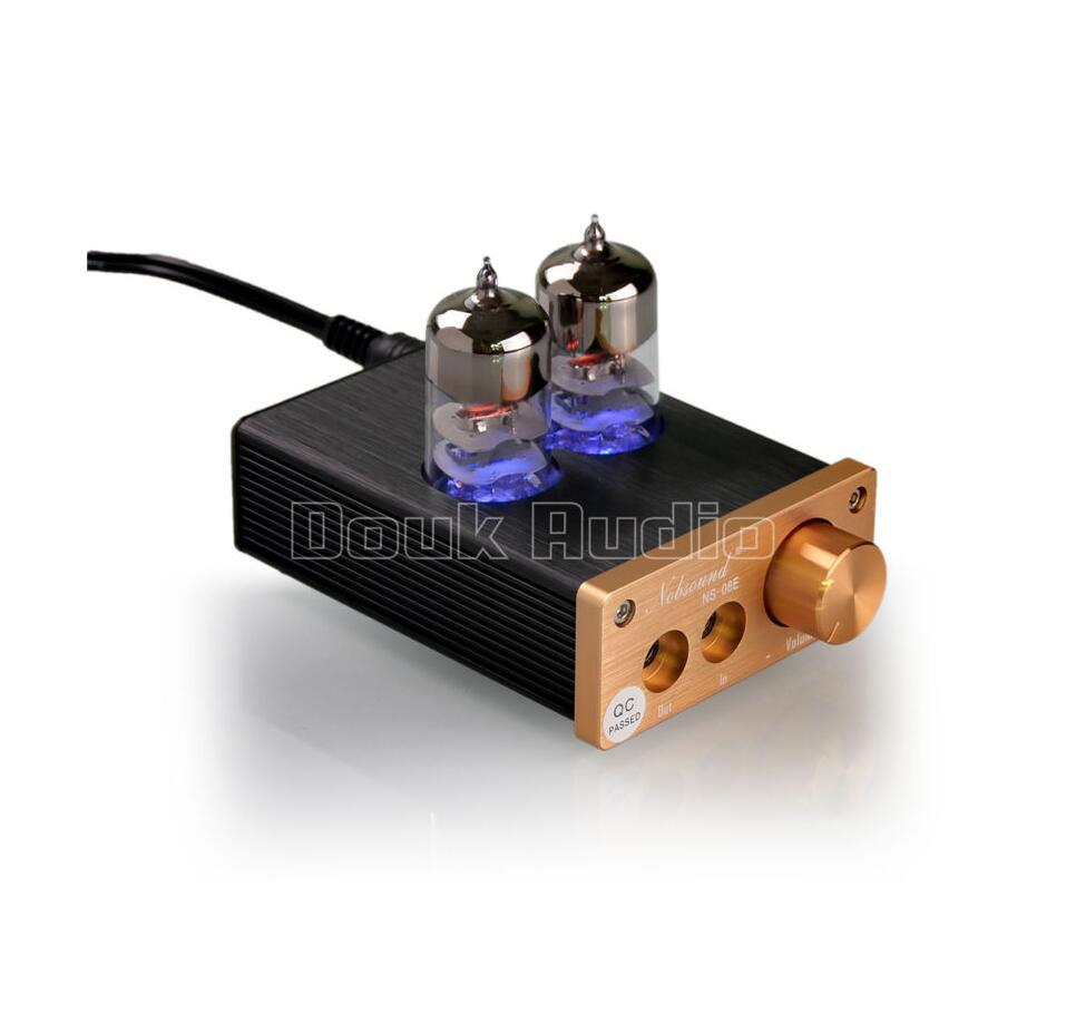 Prix pour 2017 Douk Audio Dernière 6J9 Tube À Vide Amplificateur Intégré Mini Audio HiFi Stéréo Casque Oreillette Amp Livraison Gratuite