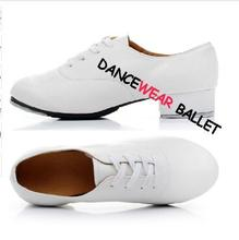 Wholesale Discount High Quality Adult Men White And Black Oxford Shiny Or Matte Lace Up Dance Shoes Tap Shoes Free Shipping