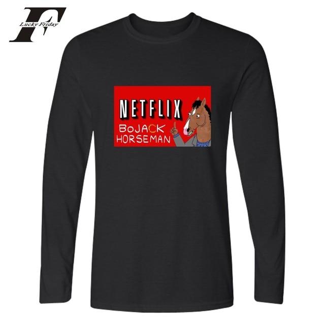 LUCKYFRIDAYF BoJack Horseman fitness T shirt Men women Black Funny ...