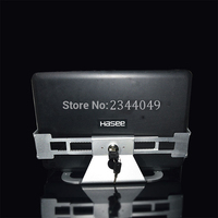Aluminium Legierung Anti Diebstahl Laptop Display-ständer Mit Sicherheit Schloss und Schlüssel 13-19 zoll Laptop Halter Halterung Tablet PC Halter
