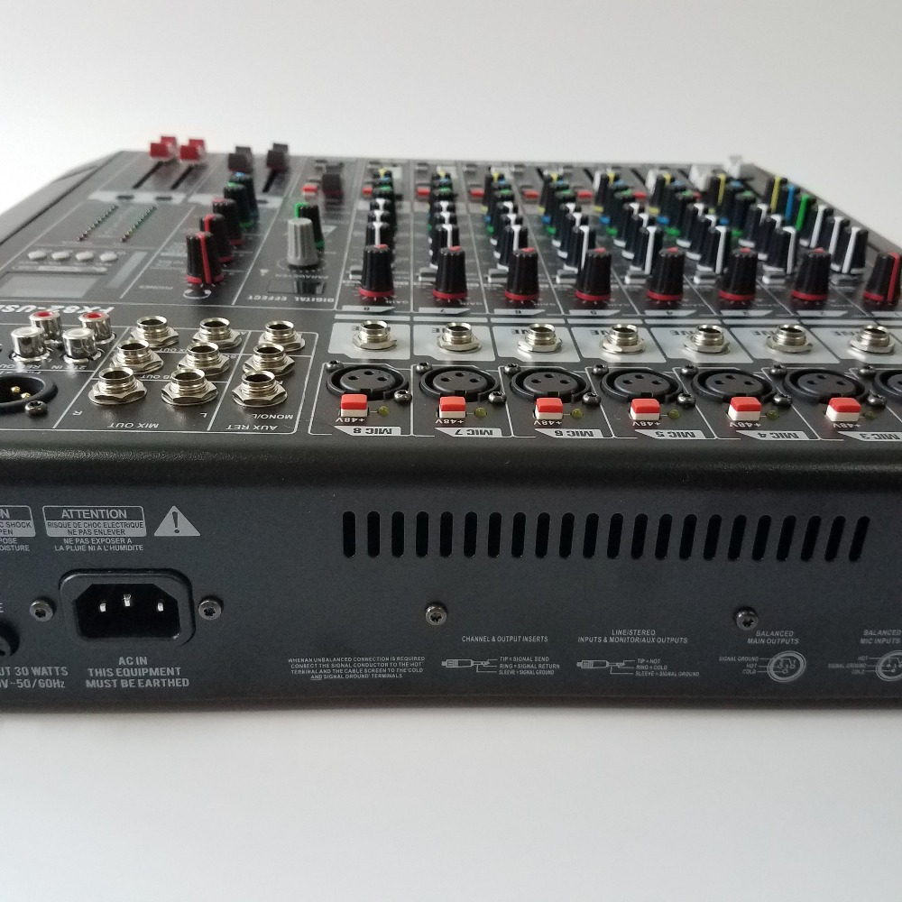 Mixing console audio mixer with processor FX82-USB 8-channel audio mixers rack mount mixing desk pro dj equipments In amplifier