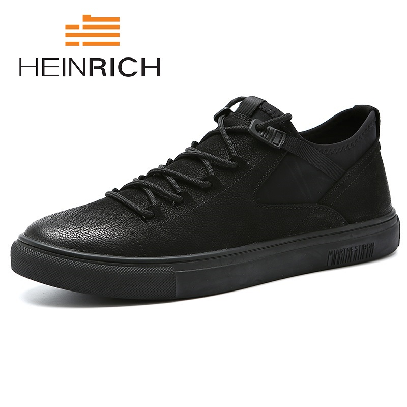 HEINRICH 2018 New Arrival Men's Fashion Sneakers Men Spring Autumn Brand Designer Comfortable Black Casual Shoes Ayakkabi