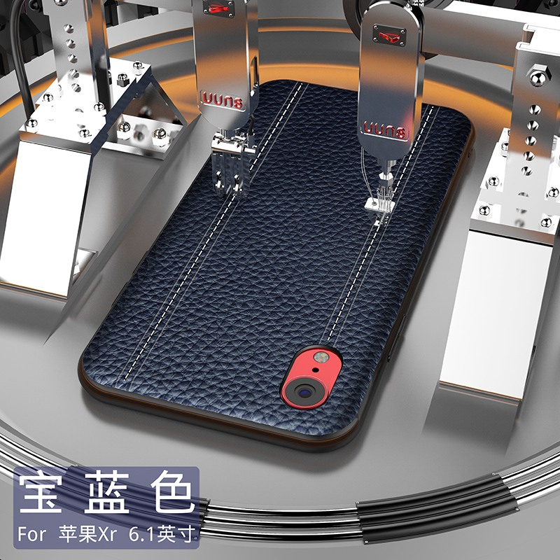 Image 4 - Genuine Leather Luxury Case For IPHONE XS MAX XS X XR Cowhide  Full Protective Cover Support adsorption magnetFitted Cases   -