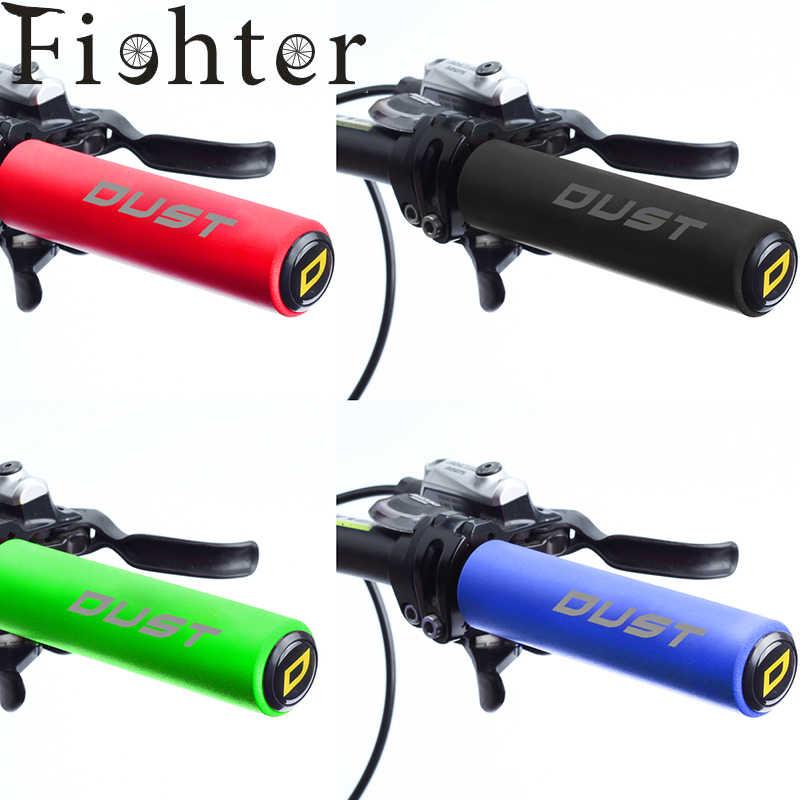 BLACK- 8736 Handlz Silicone Foam Bicycle Grips MTB Bike Handle Bar 130mm