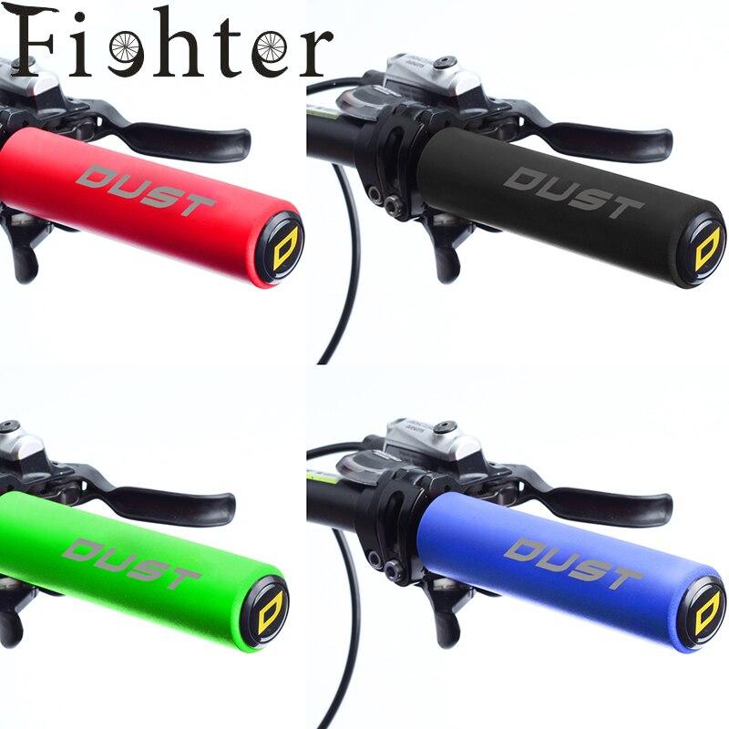New bike handlebar grips Silica gel/foam silicone Grips for MTB bike Grips for XC/AM lightweight antiskid soft Cycling grips(China)