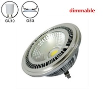 5pcs/lot 10w COB led dimmable AR111 lamp AC85-265V spotlight warm white cold 3 years warranty