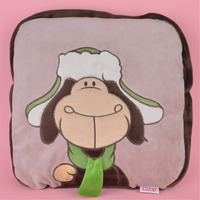 2 in 1 Multi function Hat Sheep Plush Cushion, Kids Child Plush Blanket Pillow Gift Free Shipping