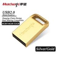 Maxchange USB Flash Drive 8GB 16GB 32GB USB Memory Stick USB 2.0 Metal Pendrive USB Stick Pen Drive High Speed U Disk Gift