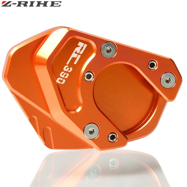 Orange Side Stand Plate Pad For  RC390 2014-2015 Support Parts