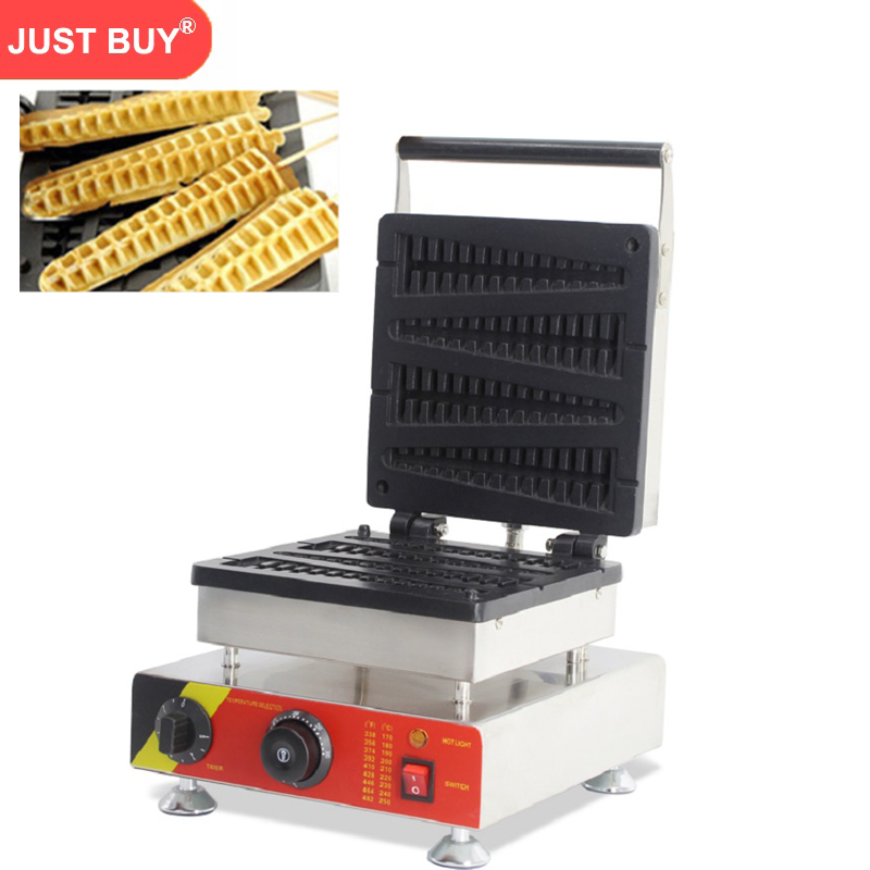 220v/110v Electric stainless steel commercial home use 4pcs waffle on stick fish lolly waffle maker machine 220v 110v 6pcs commercial electric lolly waffle maker machine non stick stainless steel pine shape waffle machine